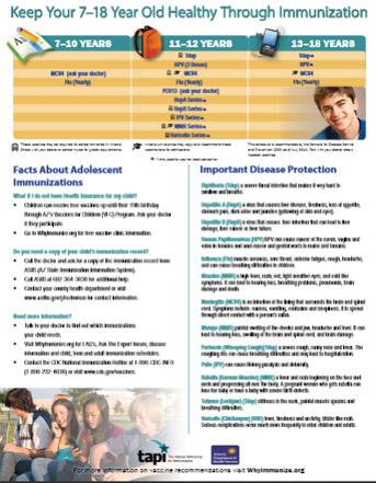Teen Schedule - Bilingual