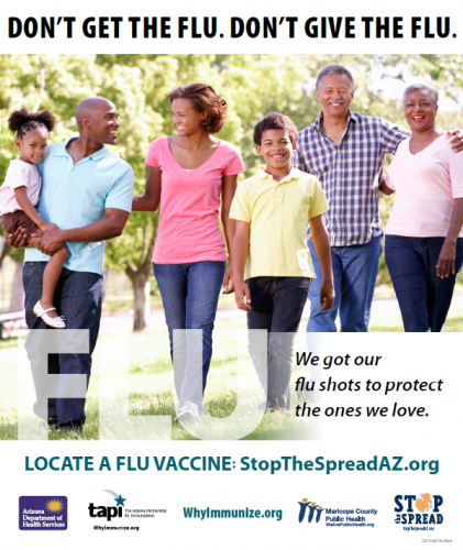 Flu Shot Af Am Family Poster