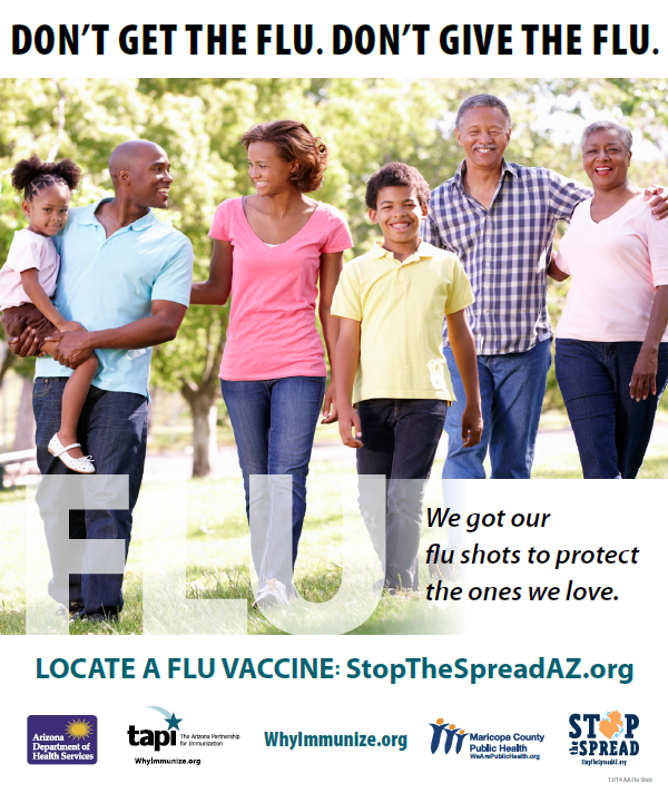 Flu Shot Af Am Family Poster